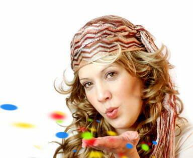 colourful konfetti girl