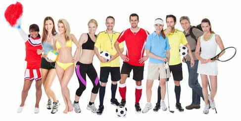 Verschiedene Arten der Sportbekleidung